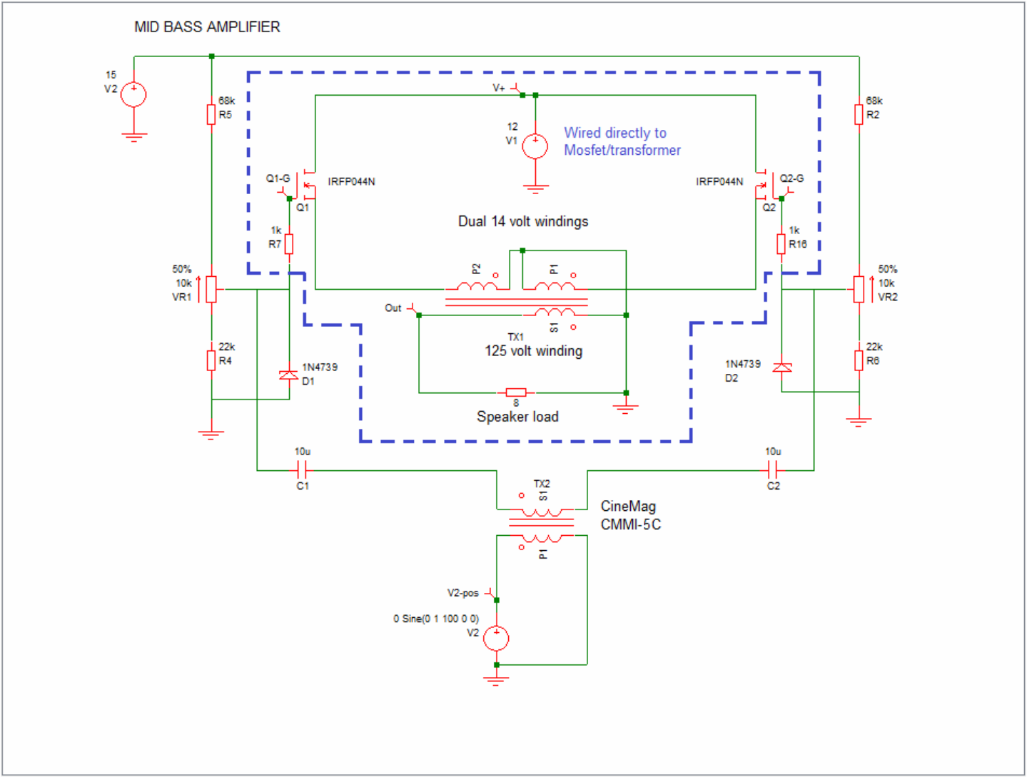 Mosfet Amp Transformer Output The Paper Horn By Inlow Sound Audio Amplifier Circuit Using First Simple
